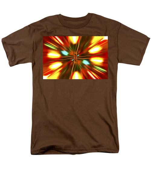 Men's T-Shirt  (Regular Fit) featuring the photograph Christmas Light Abstract by Steve Purnell