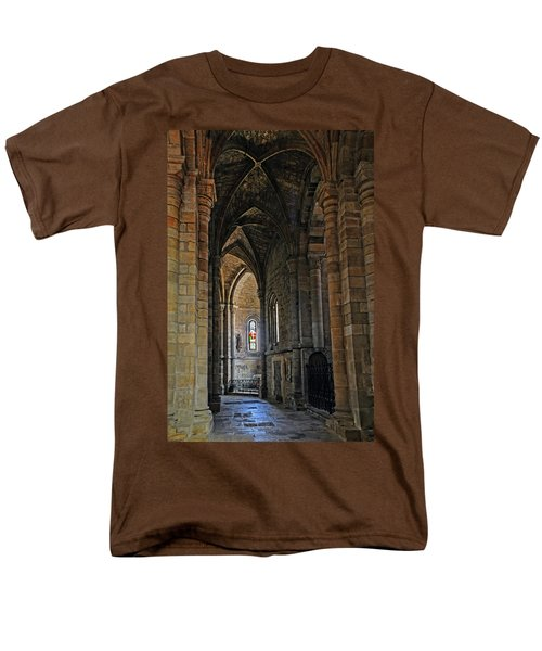 Men's T-Shirt  (Regular Fit) featuring the photograph Church Passageway Provence France by Dave Mills