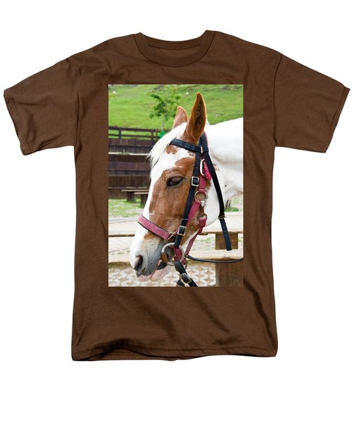 Men's T-Shirt  (Regular Fit) featuring the photograph Closeup Of Horse by Yew Kwang