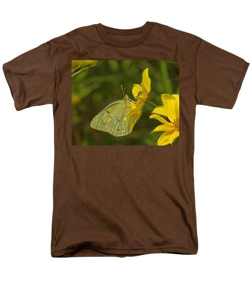 Clouded Sulphur Butterfly Din099 Men's T-Shirt  (Regular Fit) by Gerry Gantt