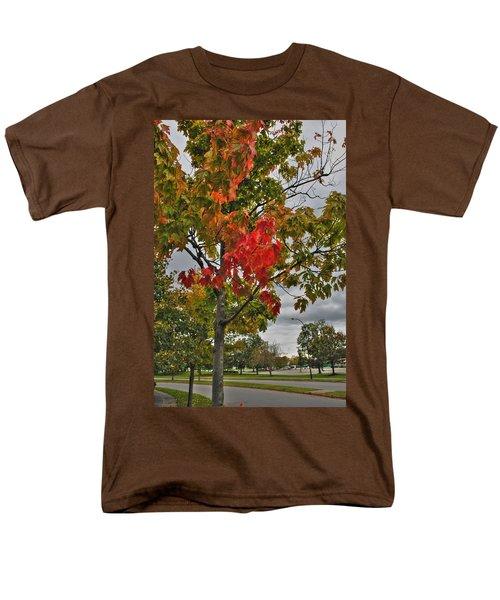 Men's T-Shirt  (Regular Fit) featuring the photograph Cold Autumn Breeze  by Michael Frank Jr