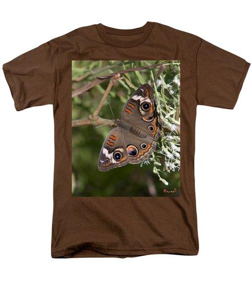 Common Buckeye Butterfly Din182 Men's T-Shirt  (Regular Fit) by Gerry Gantt