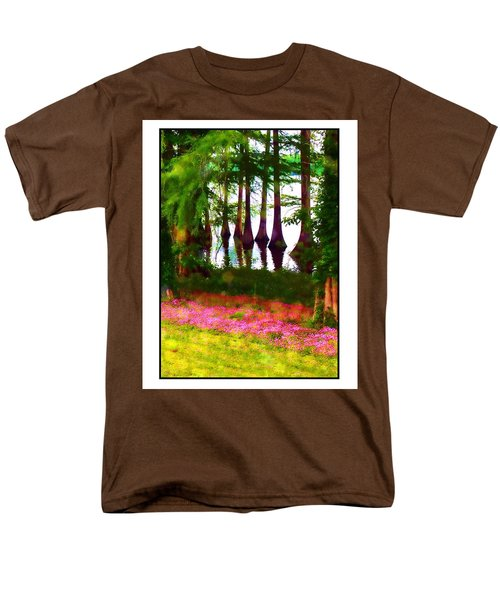 Cypress With Oxalis Men's T-Shirt  (Regular Fit) by Judi Bagwell