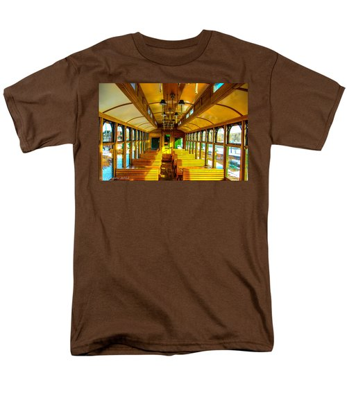Men's T-Shirt  (Regular Fit) featuring the photograph Dining Car by Shannon Harrington