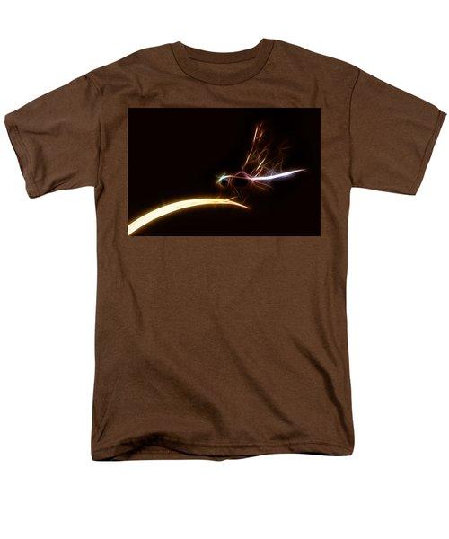 Men's T-Shirt  (Regular Fit) featuring the digital art Dragonfly On Golden Blade by Lynne Jenkins