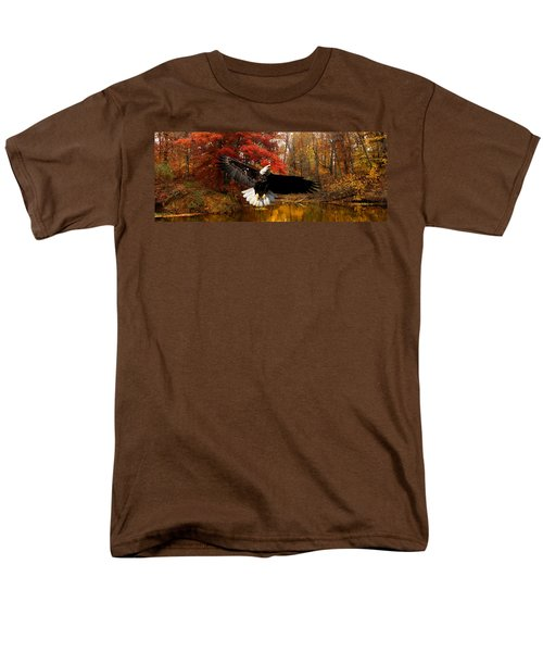 Men's T-Shirt  (Regular Fit) featuring the photograph Eagle In Autumn Splendor by Randall Branham