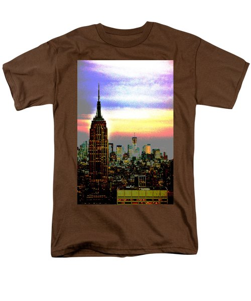 Empire State Building4 Men's T-Shirt  (Regular Fit) by Zawhaus Photography