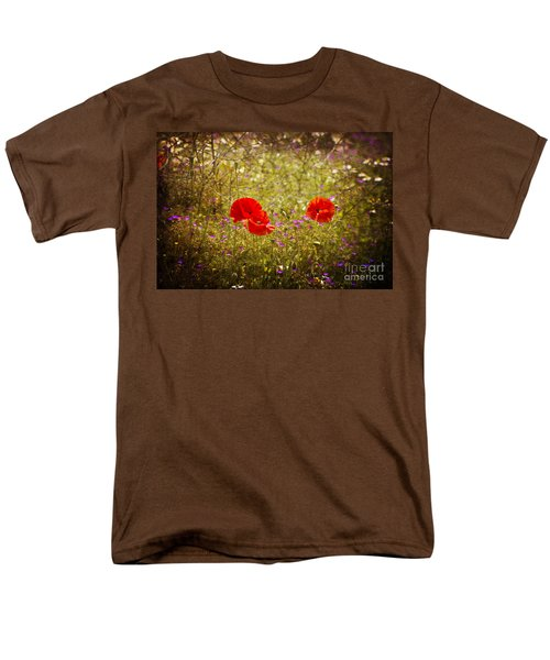 Men's T-Shirt  (Regular Fit) featuring the photograph English Summer Meadow. by Clare Bambers - Bambers Images