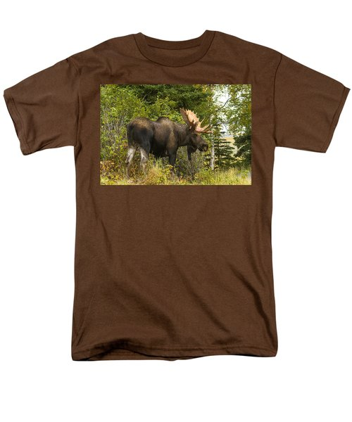 Men's T-Shirt  (Regular Fit) featuring the photograph Fall Bull Moose by Doug Lloyd