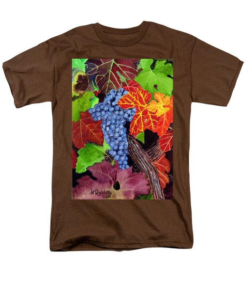 Fall Cabernet Sauvignon Grapes Men's T-Shirt  (Regular Fit) by Mike Robles