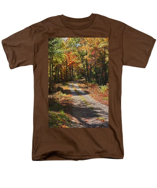 Fall On The Wyrick Trail Men's T-Shirt  (Regular Fit) by Denise Romano