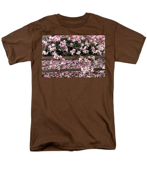 Men's T-Shirt  (Regular Fit) featuring the photograph Fence Of Flowers by Elizabeth Winter