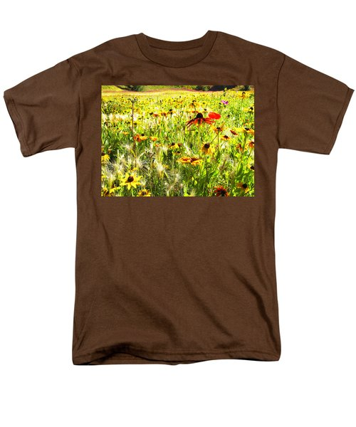 Field Of Bright Colorful Wildflowers Men's T-Shirt  (Regular Fit) by Anne Mott