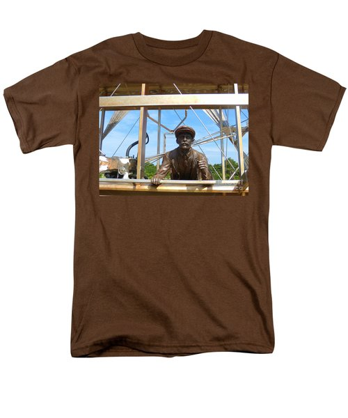 Men's T-Shirt  (Regular Fit) featuring the sculpture First In Flight  by Lydia Holly