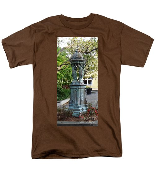 Men's T-Shirt  (Regular Fit) featuring the photograph Garden Statuary In The French Quarter by Alys Caviness-Gober
