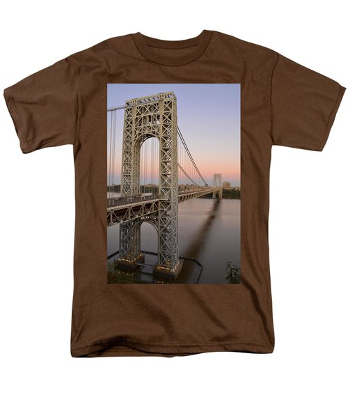 Men's T-Shirt  (Regular Fit) featuring the photograph George Washington Bridge At Sunset by Zawhaus Photography