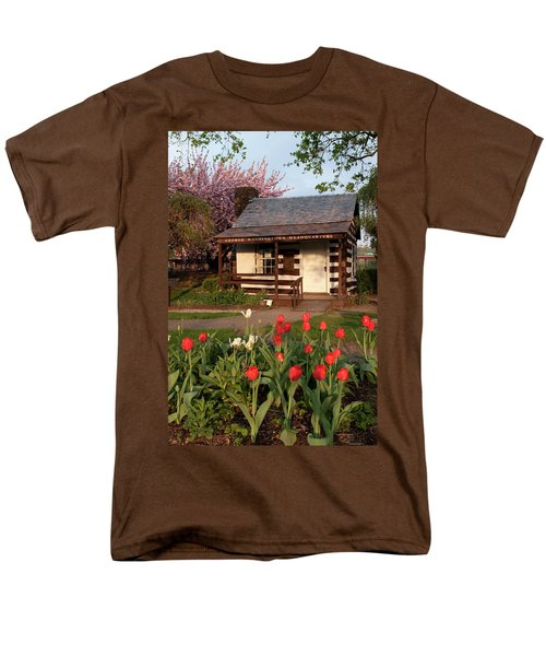 Men's T-Shirt  (Regular Fit) featuring the photograph George Washington's House by Jeannette Hunt