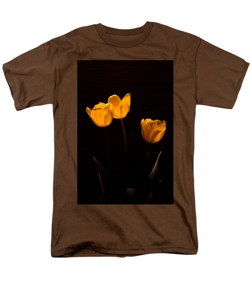 Men's T-Shirt  (Regular Fit) featuring the photograph Glowing Tulips by Ed Gleichman