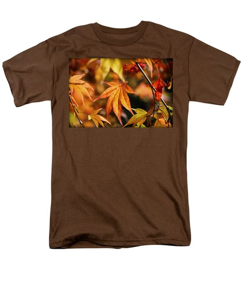 Men's T-Shirt  (Regular Fit) featuring the photograph Golden Fall. by Clare Bambers