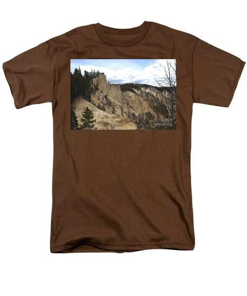 Men's T-Shirt  (Regular Fit) featuring the photograph Grand Canyon Cliff In Yellowstone by Living Color Photography Lorraine Lynch