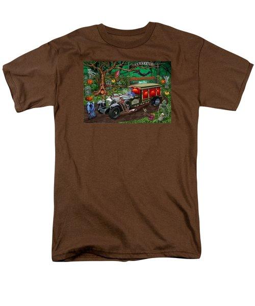 Graveyard Ghost Tours Men's T-Shirt  (Regular Fit) by Glenn Holbrook