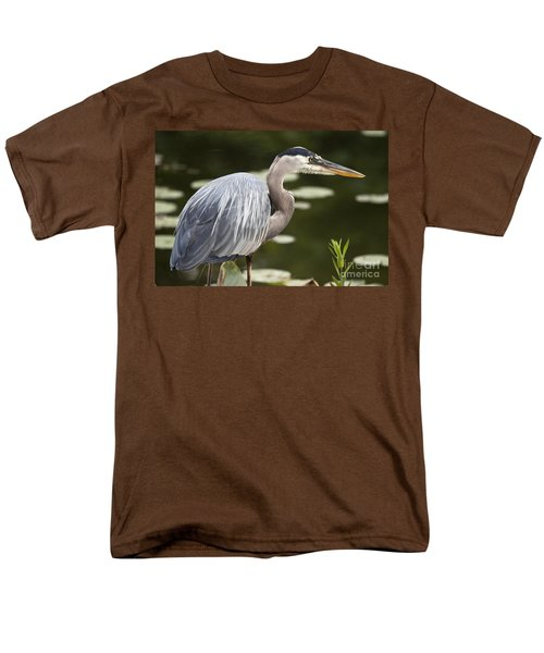 Men's T-Shirt  (Regular Fit) featuring the photograph Great Blue Heron  by Jeannette Hunt