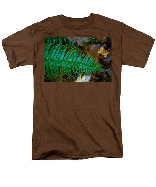 Men's T-Shirt  (Regular Fit) featuring the photograph Green Fern by Tikvah's Hope