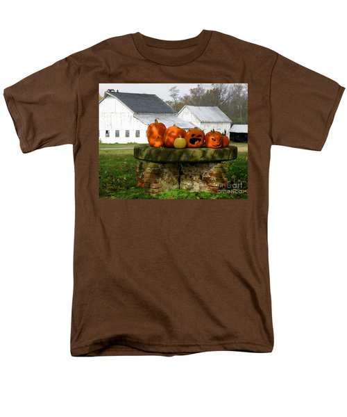 Halloween Scene Men's T-Shirt  (Regular Fit) by Lainie Wrightson