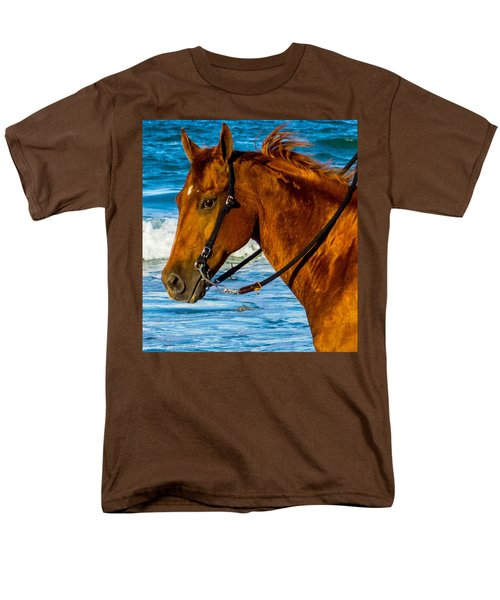 Horse Portrait  Men's T-Shirt  (Regular Fit) by Shannon Harrington