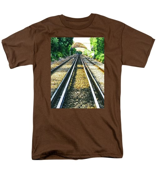 Men's T-Shirt  (Regular Fit) featuring the photograph How Come They Never Go Up The Middle by Steve Taylor
