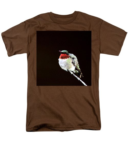 Hummingbird - Ruffled Feathers Men's T-Shirt  (Regular Fit) by Travis Truelove