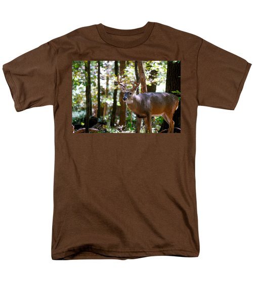 Men's T-Shirt  (Regular Fit) featuring the photograph Hunters Dream 10 Point Buck by Peggy Franz