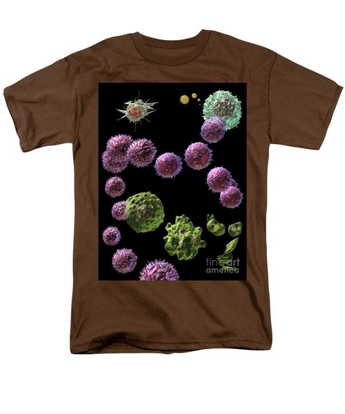 Men's T-Shirt  (Regular Fit) featuring the digital art Immune Response Cytotoxic 2 by Russell Kightley