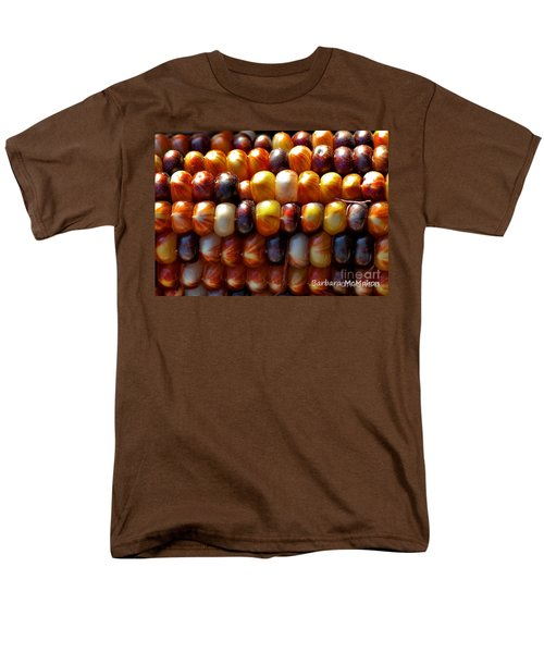 Men's T-Shirt  (Regular Fit) featuring the photograph Indian Corn by Barbara McMahon