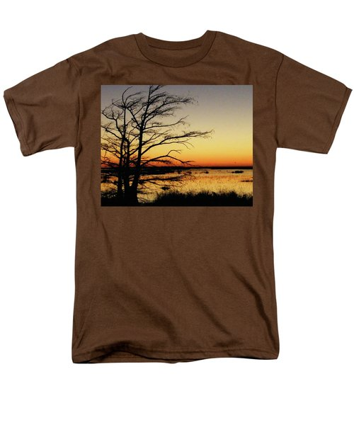 Men's T-Shirt  (Regular Fit) featuring the photograph Lacassine Sunset by Lizi Beard-Ward