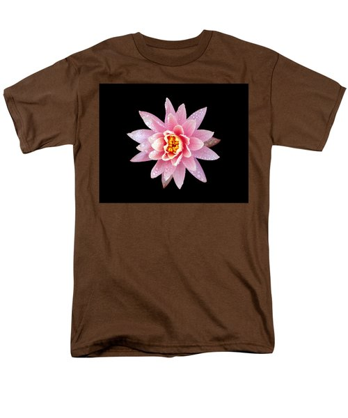 Men's T-Shirt  (Regular Fit) featuring the photograph Lily On Black by Bill Barber