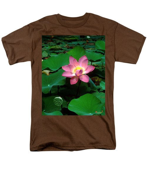 Lotus Flower And Capsule 24a Men's T-Shirt  (Regular Fit) by Gerry Gantt