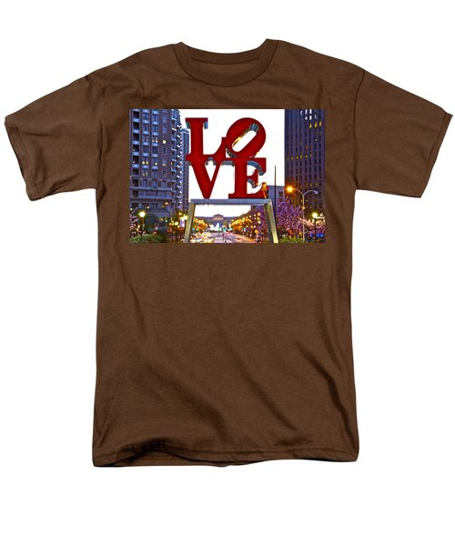 Men's T-Shirt  (Regular Fit) featuring the photograph Love In Philadelphia by Alice Gipson