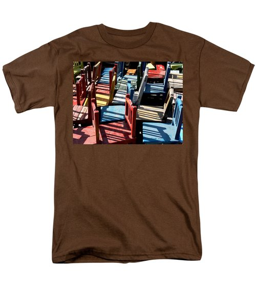 Men's T-Shirt  (Regular Fit) featuring the photograph Many Seats For Learning by EricaMaxine  Price