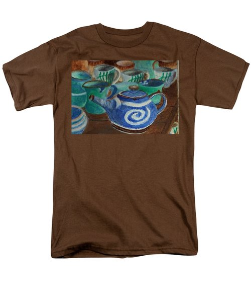 Miniature Teapots And Cups Men's T-Shirt  (Regular Fit) by Christy Saunders Church