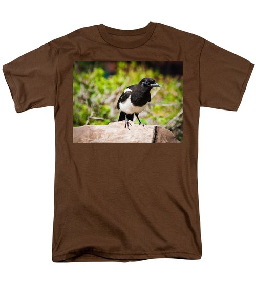 Men's T-Shirt  (Regular Fit) featuring the photograph Mr. Magpie by Cheryl Baxter