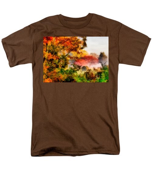 Men's T-Shirt  (Regular Fit) featuring the painting My Front Yard by Lynne Jenkins