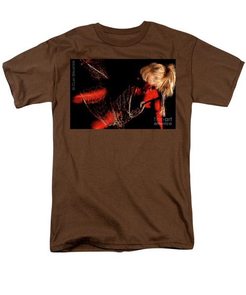 Men's T-Shirt  (Regular Fit) featuring the photograph Netted A Red by Clayton Bruster