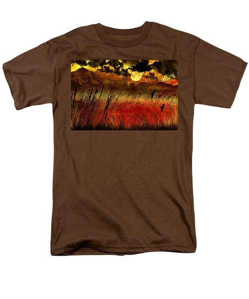 Night Falls Over The Land Men's T-Shirt  (Regular Fit) by Ellen Heaverlo