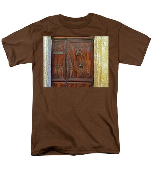 Men's T-Shirt  (Regular Fit) featuring the photograph Old Door Study Provence France by Dave Mills