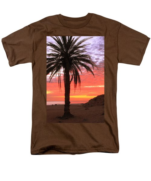 Palm Tree And Dawn Sky Men's T-Shirt  (Regular Fit) by Roupen  Baker