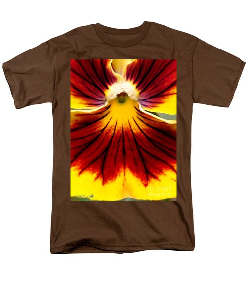 Men's T-Shirt  (Regular Fit) featuring the photograph Pansy Named Imperial Gold Princess by J McCombie