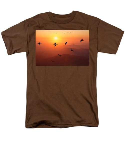 Men's T-Shirt  (Regular Fit) featuring the photograph Pelican Migration by Chris Lord