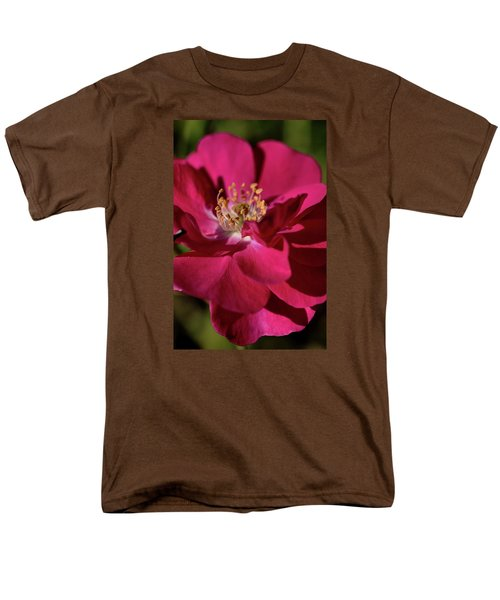 Men's T-Shirt  (Regular Fit) featuring the photograph Pink Of Rose by Joy Watson