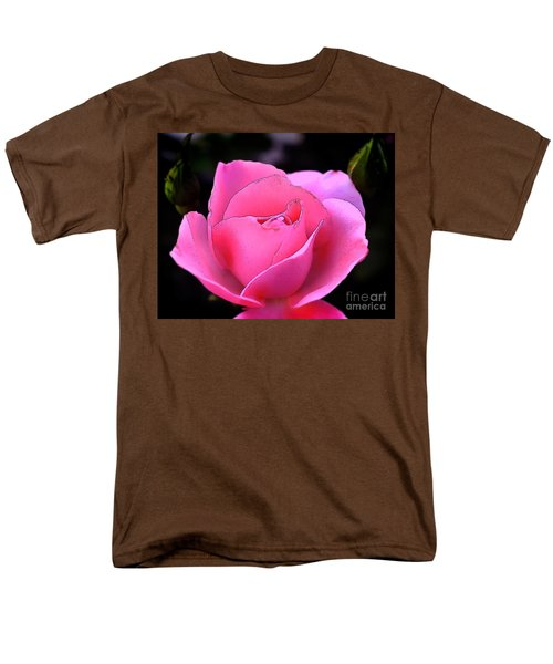 Men's T-Shirt  (Regular Fit) featuring the photograph Pink Rose Day by Clayton Bruster